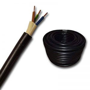 Câble souterrain NYY-J avec 3 brins de 1,5mm² - Vendu au mètre - Pour circuit de courant fort - Ligne de terre enPVC noir - Coupe par pas de 1 mètre - Exemple:20 m, 25 m, 35 m, 50 m, etc de la marque EBROM image 0 produit