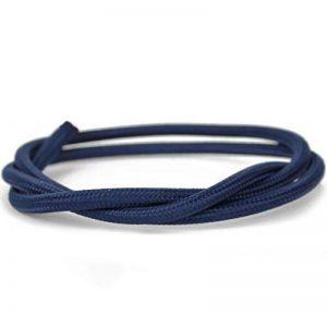Câble textile pour lampe | rond | trois fils–3x 0,75mm²–bleu foncé–lot de 5mètres de câble AM–Grande flexibilité de la marque Unicorn Displays image 0 produit