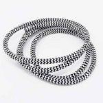 Câble tissu noir/blanc 1,20m Câble textile de 3fils 3x 0,75mm² zigzags recouvertes Lampe Câble Câble de la marque Christoph Palme Leuchten image 1 produit