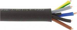 Câble U-1000 R2V noir 1,5 mm² - Couronne 50 m - 5G 1,5 mm² de la marque SÃlection Brico-travo image 0 produit