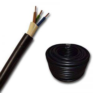 Câbles de haute tension - NYY-J 3x1,5 mm² - Plastique Câbles souterrains - 10m / 10 m / 10 mètres - noir de la marque EBROM image 0 produit