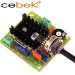 Cebek Ce-R10 Module régulateur variateur de vitesse moteur monophasé courant alternatif 230 V 2 Cv 1 500 W de la marque Cebek image 1 produit