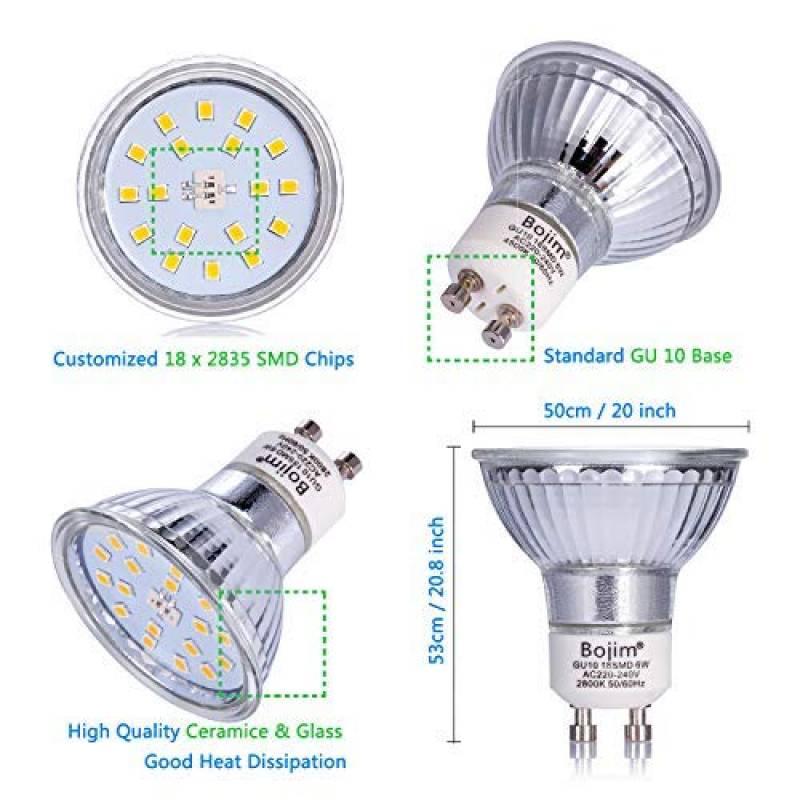 Conditionnement multiple Standard GU10 encastrés fixes avec ampoules à DEL plafond spots