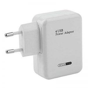 Chargeur Secteur 4 Ports USB - Prise Murale - Prise Adaptateur - 5V * 3.1A - Adaptateur Secteur USB Universel Entrée 100-240V - Blanc de la marque NiLoK image 0 produit