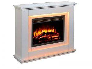 Cheminée électrique Castleton 220/240 volts 1&2kW avec télécommande programmable pour chaque jour de la semaine et encadrement couleur crème de la marque Endeavour Fires and Fireplaces image 0 produit