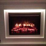 Cheminée électrique Castleton 220/240 volts 1&2kW avec télécommande programmable pour chaque jour de la semaine et encadrement couleur crème de la marque Endeavour Fires and Fireplaces image 4 produit