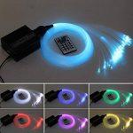 CHINLY LED En Plastique Fiber Optique Star Plafonniers Kit 200 pcs 0.75mm 6.5ft 2 m fiber optique + 16 W RGBW Lumière Moteur + 28 Clé RF À Distance de la marque CHINLY image 2 produit