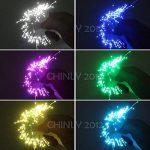 CHINLY LED En Plastique Fiber Optique Star Plafonniers Kit 200 pcs 0.75mm 6.5ft 2 m fiber optique + 16 W RGBW Lumière Moteur + 28 Clé RF À Distance de la marque CHINLY image 3 produit