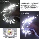 CHINLY LED En Plastique Fiber Optique Star Plafonniers Kit 200 pcs 0.75mm 6.5ft 2 m fiber optique + 16 W RGBW Lumière Moteur + 28 Clé RF À Distance de la marque CHINLY image 4 produit