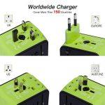 COCOCITY Chargeur Adaptateur de Voyage avec 3 USB et 1 Type C Interface Adaptateur Universel Pris de Courant pour Royaume-Uni États-Unis Australie Utilisé dans plus de 150 pays Adaptateur Chargeur, Vert de la marque COCOCITY image 1 produit