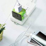 COCOCITY Chargeur Adaptateur de Voyage avec 3 USB et 1 Type C Interface Adaptateur Universel Pris de Courant pour Royaume-Uni États-Unis Australie Utilisé dans plus de 150 pays Adaptateur Chargeur, Vert de la marque COCOCITY image 4 produit