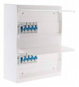 Coffret T1/T2 26 modules Blanc équpé de 8 disjoncteurs et 2 inter. diff. livré avec accessoires de la marque Zenitech image 0 produit