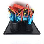 Commutateur de Panneau Étanche 12V Avec Double Interrupteur de Panneau de Chargeur USB, Commutateur de Combinaison de Panneau de 4 Positions, Adapté Pour Les Navires de Plaisance Automobiles (Emballage Blister) de la marque Seasaleshop image 4 produit