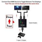 Commutateur HDMI, AMANKA Répartiteur HDMI Commutateur Bidirectionnel 2 Entrées vers 1 Sortie ou 1 Entrée vers 2 Sorties, Prend en Charge 3D 1080P 4K, Switch HDMI pour HDTV/Lecteur Blu-ray/DVD/DVR/Xbox etc de la marque AMANKA image 4 produit