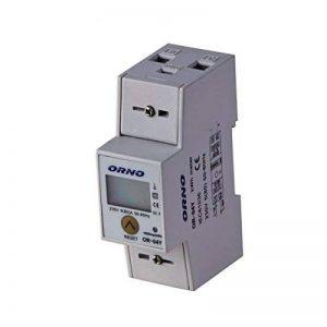 Compteur d'énergie monophasé avec afficheur et sortie impulsion - ORNO de la marque Orno image 0 produit