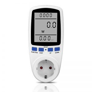 Compteur d'énergie, prise foraco coûts énergétiques Compteur Compteur de consommation électrique avec grand écran LCD et überlastsicherung, 3680W, Blanc de la marque Foraco image 0 produit