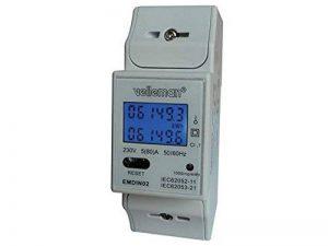 COMPTEUR ENERGIE ELECTRIQUE kWh MONOPHASE POUR MONTAGE SUR RAIL DIN - 2 MODULES EMDIN02 de la marque MDN Direct Import image 0 produit