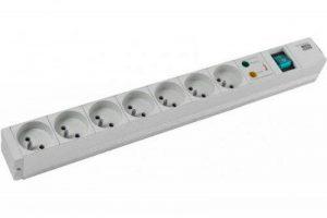 CONECTICPLUS Multiprise électrique rackable 19' 7 prises avec interrupteur et parafoudre 1.50m de la marque CONECTICPLUS image 0 produit