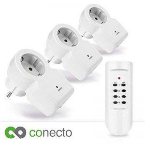 conecto Funk prises Kit complet (4canaux, 3x prise radio, 1x télécommande) Blanc de la marque conecto image 0 produit
