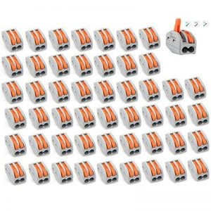 connecteur de fils Lot de 50Pct-2122ports à levier conducteur Compact connecteur bornier Fil Push connecteur de câble de la marque AGGER image 0 produit