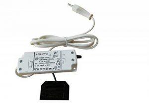 Convertisseur Transformateur LED 1–15W DC 12V avec mini Tableau de distribution 6voies et câble d'alimentation de 1,8m de la marque ROLUX image 0 produit