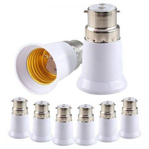 Coogam B22 à E27 Convertisseur de lampe Base Ampoule Prise Adaptateur LED Lumière ES Edison Vis Adaptateur Convertisseur Paquet de 8 de la marque Coogam image 0 produit