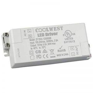 COOLWEST LED Transformateur 60W Driver 12V DC Convertisseur Transfo Alimentation pour G4 GU10 MR11 MR16 Rubans de la marque COOLWEST image 0 produit
