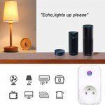 COOSA Wifi Prise Intelligente Smart Prise Connectée Compatible Android iOS Prise de Courant Intelligente avec Amazon Alexa/Google Home/TFTTT(Blanc+Lot 3) de la marque COOSA image 1 produit
