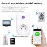 COOSA Wifi Prise Intelligente Smart Prise Connectée Compatible Android iOS Prise de Courant Intelligente avec Amazon Alexa/Google Home/TFTTT(Blanc+Lot 3) de la marque COOSA image 3 produit
