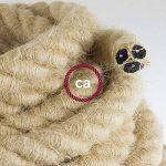 Corde 2XL, câble électrique 3x0,75. Revêtement en jute brute. Diamètre 24mm. de la marque Creative-Cables image 1 produit