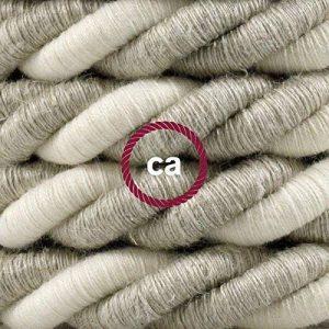 Corde 3XL Diam/ètre 30mm. Rev/êtement en jute brute c/âble /électrique 3x0,75