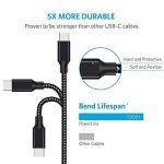 Cordking Câble USB Type C , [Pack de 4] 1M 2M 2M 3M Chargeur USB Type C en Nylon avec connecteur en aluminium Cable USB C pour Samsung Galaxy Note 9 / S9 / S9 Plus / Note 8 / S8 / S8 Plus / A3/A5(2017) / A7 / A9, Huawei P20 Pro,P10/P20 Lite, Sony Xperia X image 1 produit