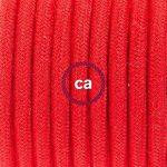 Cordon pour lampe, câble RC35 Coton Rouge Feu 1,80 m. Choisissez la couleur de la fiche et de l'interrupteur! - Noir de la marque Creative-Cables image 2 produit
