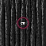 Cordon pour lampe, câble RM04 Effet Soie Noir 1,80 m. Choisissez la couleur de la fiche et de l'interrupteur! - Noir de la marque Creative-Cables image 2 produit