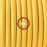 Cordon pour lampe, câble RM10 Effet Soie Jaune 1,80 m. Choisissez la couleur de la fiche et de l'interrupteur! - Transparent de la marque Creative-Cables image 2 produit
