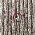 Cordon pour lampe, câble RN01 Lin Naturel Neutre 1,80 m. Choisissez la couleur de la fiche et de l'interrupteur! - Blanc de la marque Creative-Cables image 2 produit