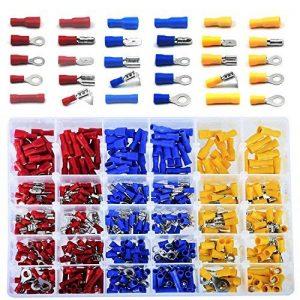 Cosses Electriques pour Voiture, 480 Cosse a Sertir Incluent Bague Bullet Spade Butt Splice et Dos Piggy de la marque MKS image 0 produit