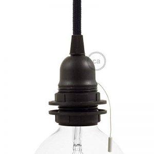 Creative-Cables Douille E27 avec interrupteur à tirette en matériel thermoplastique noir, 2 bagues - 1 de la marque Creative-Cables image 0 produit