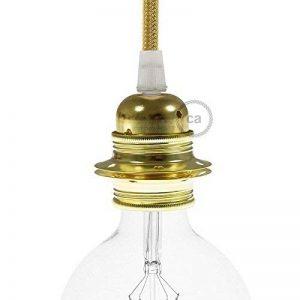Creative-Cables Douille en métal laiton, culot ampoule E27, 2 bagues de la marque Creative-Cables image 0 produit