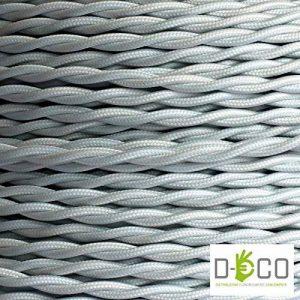 Creative-Cables - Fil Électrique Torsadé Gaine De Tissu De Couleur – Blanc - 10 Metri, 3 Cavi de la marque image 0 produit
