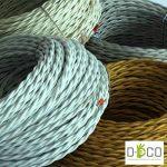 Creative-Cables - Fil Électrique Torsadé Gaine De Tissu De Couleur – Blanc - 10 Metri, 3 Cavi de la marque image 2 produit