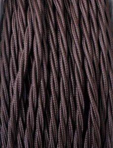 Creative-Cables - Fil Électrique Torsadé Gaine De Tissu De Couleur – Marron - 5 Metri, 3 Cavi de la marque image 0 produit