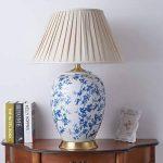 Cs Lampe De Table en Céramique Américain Country Salon Lampe De Table De Table De Chevet Chinois Lampe De Bureau en Porcelaine Bleue Blanche Plein Bronze de la marque Cs image 1 produit