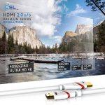 CSL - 10m Ultra HD 4k HDMI Câble | High Speed par Ethernet | Full HD 1080P / 4K Ultra HD 2160P à 30 Hz / 3D / ARC et CEC | Câble Triple Blindage + Blindage Fiche et Contacts de la marque CSL-Computer image 4 produit