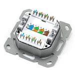 CSL - Prise RJ45 montage au choix encastré / apparent / prise réseau Cat6 2 ports Gigabit/Ethernet | prise combinée universelle (montage encastré / montage apparent) | prise données | 2x RJ45 | LSA+ | TIA-568A/B | ADSL | ISDN | pour réseaux Gigabit et Eth image 4 produit
