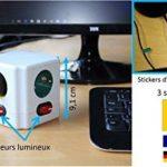 Cube Multiprise Couleur - Interrupteur pour Chaque Sortie - Stickers - Normes NF de la marque Fishtec image 1 produit