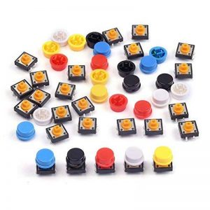 Cylewet 25pcs 12x 12x 7.3mm momentané Tact tactile Push Button Switch Interrupteur tactile Micro Switch 4broches SMD PCB avec capuchon pour Arduino (lot de 25) Clw1009 de la marque Cylewet image 0 produit
