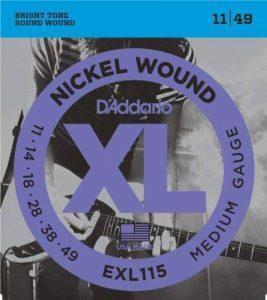 D'Addario EXL115 Nickel Wound - Jeux de cordes pour guitares électriques Medium/Blues-Jazz 11 - 49 de la marque D'Addario image 0 produit