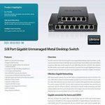 D-Link Switch 8 ports Gigabit metallique 10/100/1000mbps - Idéal partage de connexion et mise en réseau Small Office Home Office (DGS-108) de la marque D-link image 3 produit