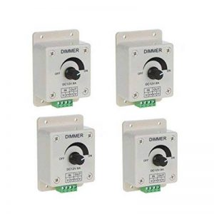 DC12V Dimmer Controller - TOOGOO (R)4pcs DC 12V Simple Couleur Strips Controller Dimmer Adjust Pour 5050 3528 LED de la marque TOOGOO(R) image 0 produit